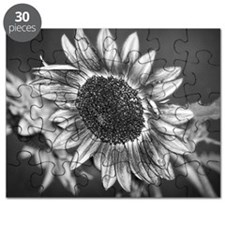 Black and White Sunflower Puzzle