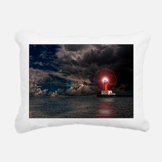 new lighthouse edit 4 Rectangular Canvas Pillow