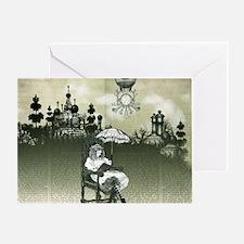The Wonderland Reader by Bethalynne  Greeting Card