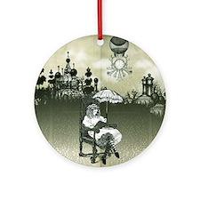 The Wonderland Reader by Bethalynne Round Ornament