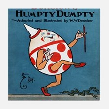 Denslows-Humpty-Dumpty-Book-iPad-2 Tile Coaster