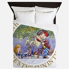 ALICE WHY BE NORMAL_gold copy Queen Duvet