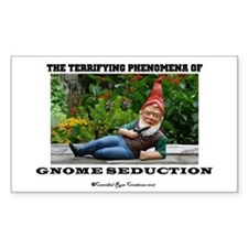 Gnome Seduction Rectangle Decal