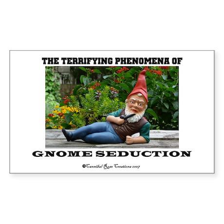 Gnome Seduction Rectangle Sticker