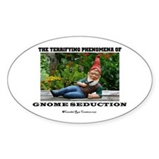 Gnome Seduction Oval Decal