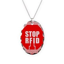 600px-Stoprfid-logo Necklace Oval Charm