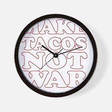 Make Tacos Not War Apron Wall Clock