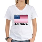 America Freedom Women's V-Neck T-Shirt