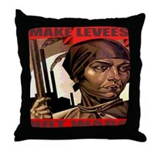 Make Levees Not Wars Throw Pillow