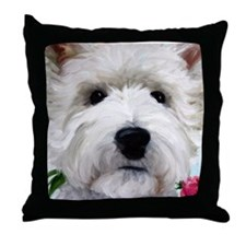 WESTIE DOG Throw Pillow