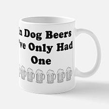 Dog beers on white Mug