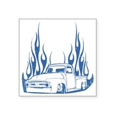 """flamed truck dis Square Sticker 3"""" x 3"""""""