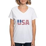 USA Women's V-Neck T-Shirt