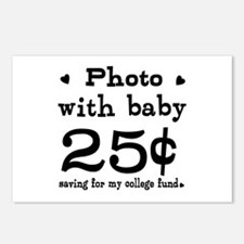 25 Cents Photo with Baby Postcards (Package of 8)