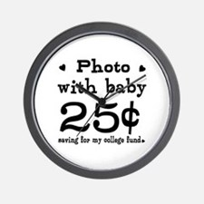 25 Cents Photo with Baby Wall Clock
