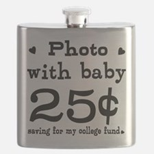 25 Cents Photo with Baby Flask