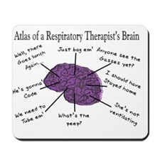 Atlas of a Respiratory Therapist Brain Mousepad