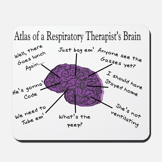 Atlas of a Respiratory Therapist Brain Mousepad
