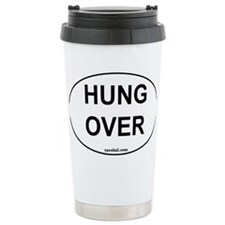 Hung Over Oval Sticker 3x5 Travel Mug