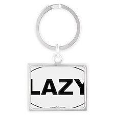 Lazy Oval Sticker 3x5 Landscape Keychain