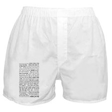rules of a functional mute Boxer Shorts
