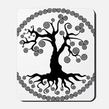 CP tree of life blk 2 Mousepad