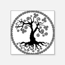 "CP tree of life blk 2 Square Sticker 3"" x 3"""
