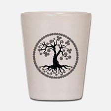 CP tree of life blk 2 Shot Glass