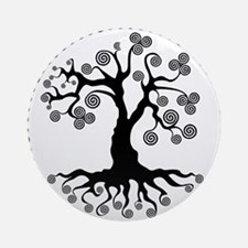 CP tree of life blk 2 Round Ornament