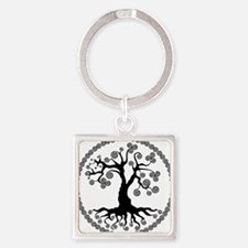 CP tree of life blk 2 Square Keychain