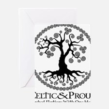 CP tree of life blk Greeting Card