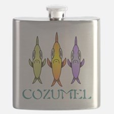 Cozumel 3-fishes Flask