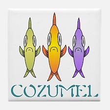 Cozumel 3-fishes Tile Coaster