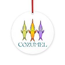 Cozumel 3-fishes Round Ornament
