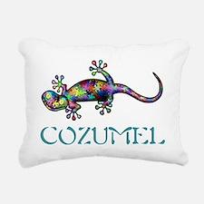 Cozumel Gekco Rectangular Canvas Pillow