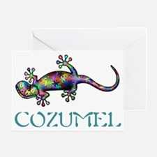 Cozumel Gekco Greeting Card