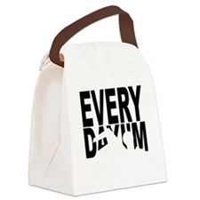 swimming2_blk Canvas Lunch Bag