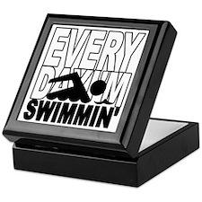swimming2_wht Keepsake Box