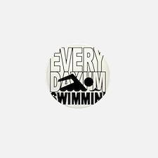 swimming2_wht Mini Button