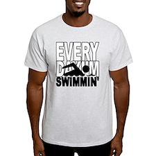 swimming2_wht T-Shirt