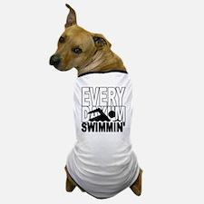 swimming2_wht Dog T-Shirt