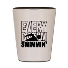 swimming_blk Shot Glass