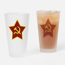 Hammer and Sickle with Star Drinking Glass