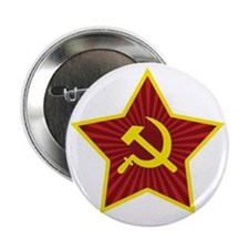 """Hammer and Sickle with Star 2.25"""" Button"""