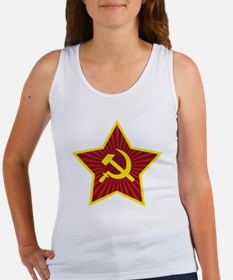 Hammer and Sickle with Star Women's Tank Top