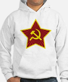 Hammer and Sickle with Star Hoodie Sweatshirt