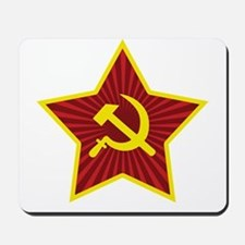 Hammer and Sickle with Star Mousepad