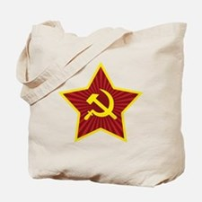 Hammer and Sickle with Star Tote Bag