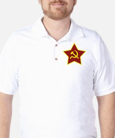 Hammer and Sickle with Star Golf Shirt