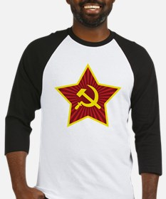 Hammer and Sickle with Star Baseball Jersey